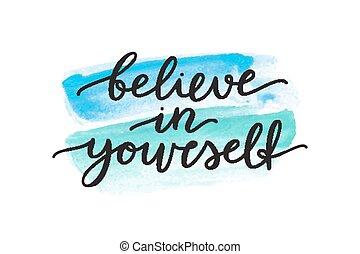 credere, in, te stesso