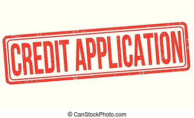 Credit application grunge rubber stamp