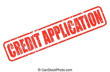CREDIT APPLICATION red stamp text