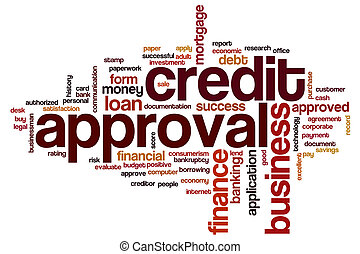Credit approval word cloud concept