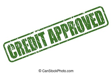 CREDIT APPROVED green stamp text on white