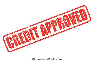 CREDIT APPROVED red stamp text