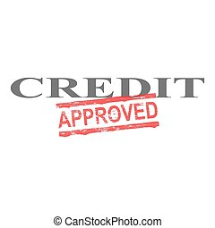 Credit Approved Word Stamp