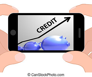 Credit Arrow Displays Lending Debt And Repayments - Credit...
