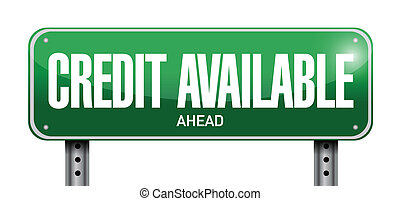credit available street sign