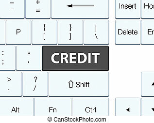 Credit black keyboard button
