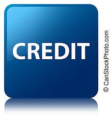 Credit blue square button