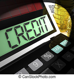 Credit Calculated Shows Financing Borrowing Or Loan