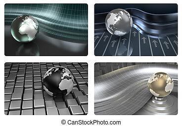 Credit card 3D design
