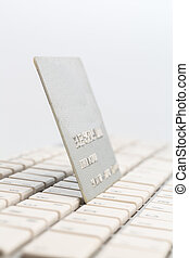 credit card and keyboard - a credit card and the tastatue ...