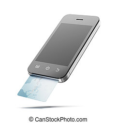 Credit Card and modern mobile phone