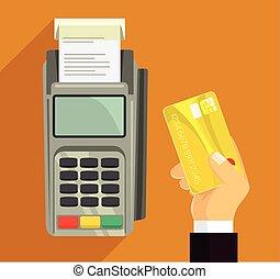 Credit card and pos terminal