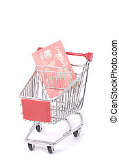 credit card and shopping trolley
