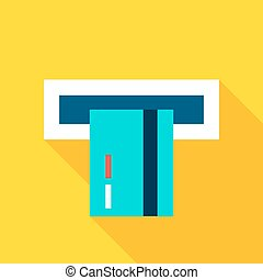 Credit Card Atm Flat Icon