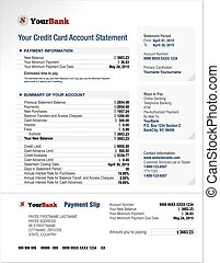 Credit Card Bank Account Statement Template - Credit Card...