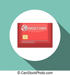 credit card blue travel design