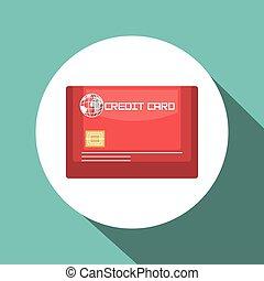 credit card blue travel design