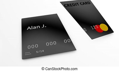 Credit card cancel - Concept animation, canceling credit...