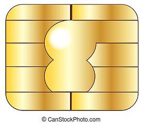 Credit Card Chip - Closeup of a credit card chip