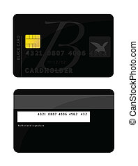 Credit card - An illustration of a Black credit card. Vector...