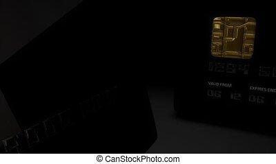 Credit card close-up.