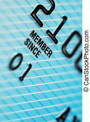 Credit Card - Closeup of credit card detail. Low Depth of ...