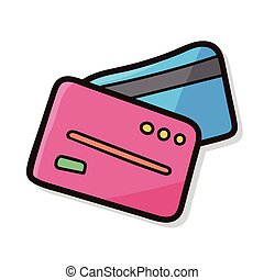 credit card color doodle