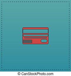 Credit card computer symbol