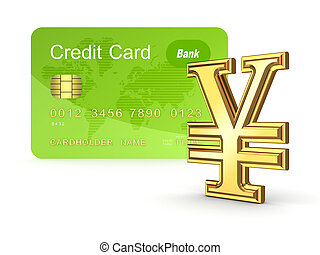 Credit card concept.Isolated on white background.