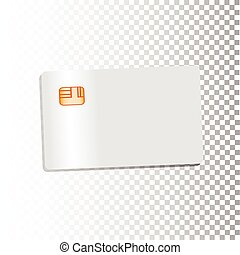 Credit card details with realistic geometrical