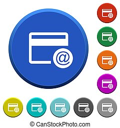 Credit card email notifications beveled buttons