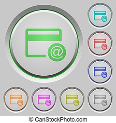 Credit card email notifications push buttons