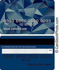 Credit card - Templates of credit card design with a...