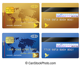 credit card wtih front and back views