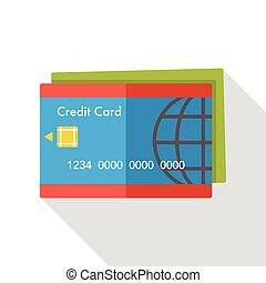 credit card flat icon
