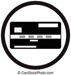 Credit card flat icon monochrome