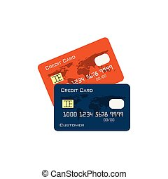 Credit card graphic design illustration vector