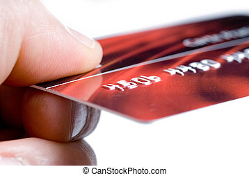 Credit card - hand giving a credit card