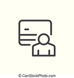 Credit card holder line icon
