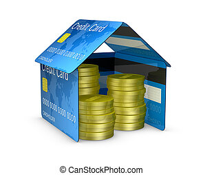 credit card house