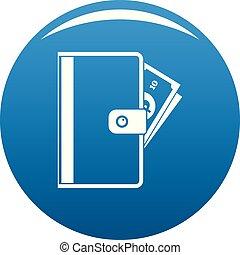 Credit card icon blue vector