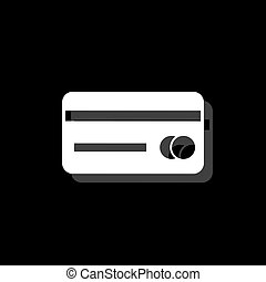 Credit card icon flat