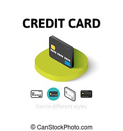 Credit card icon in different style