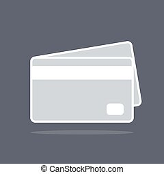 Credit card icon on dark background