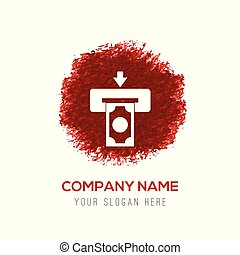 Credit card icon - Red Water Color Circle Splash