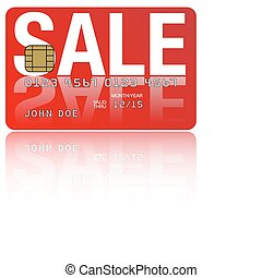 Credit Card - Fictitious Credit Card With Sale Sign on White...