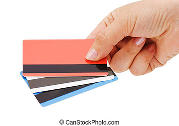 credit card in a female hand