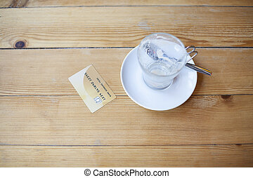 credit card in cafe