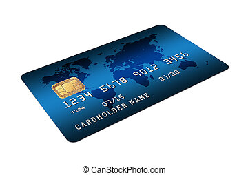 Credit Card isolated on white background