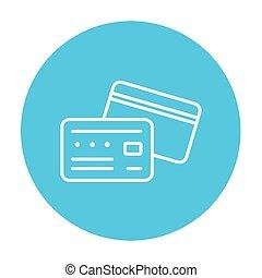 Credit card line icon.